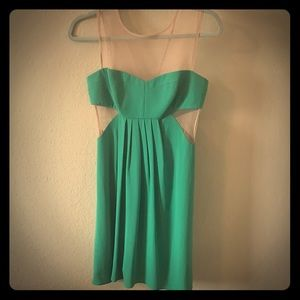 New Green Cutout Dress